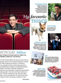 "Canberra Weekly ""Nicholas Milton. My favourite Things"""