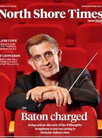 "North Shore Times ""Baton charged. Being artistic director of the Willoughby Symphony is just one string to Nichtolas Milton's bow"""